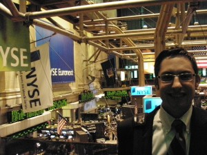 Picture of the Elusive Eric Rosenberg at the NYSE PersonalProfitability.com