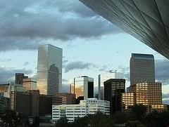 Denver skyline from the DAM