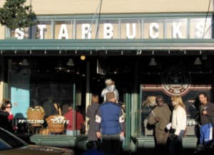 The Starbucks store at 1912 Pike Place. This i...