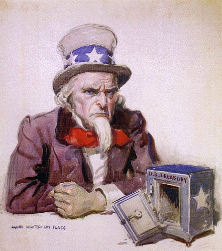 Uncle Sam Stock Market Treasury Bank