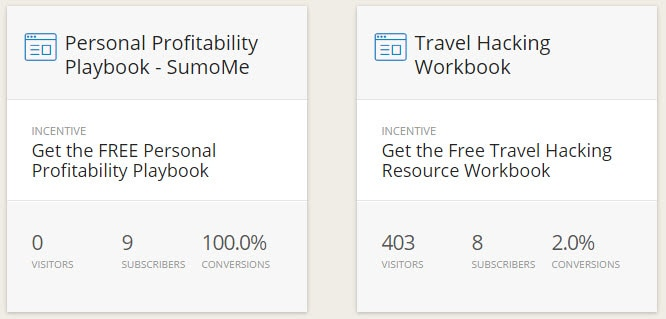 ConvertKit Forms PersonalProfitability.com - ConvertKit Review