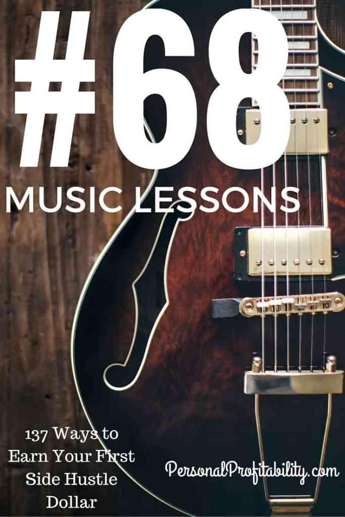 137 Ways to Earn Your First Side Hustle Dollar #68 Music Teacher - PersonalProfitabilty.com