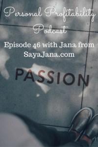 Personal Profitability Podcast 46 Jana Pinterest
