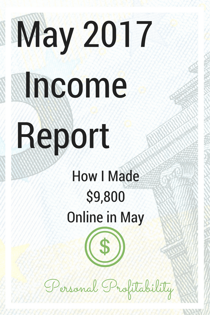 The books are closed on May. Come find out if I reached my monthly goal of $10,000 in online income in May 2017. Plus learn exactly how I did it, or didn't...