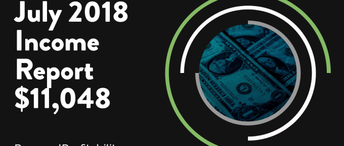 July 2018 Online and Side Hustle Income Report