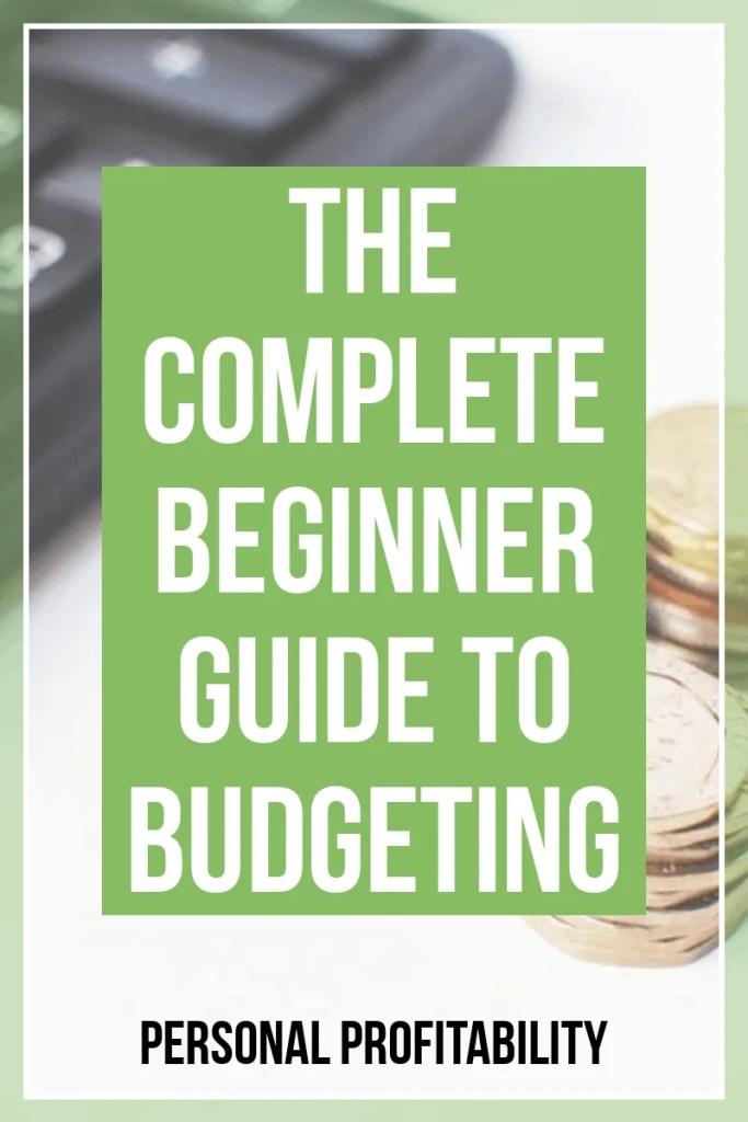 How to create a budget guide- PersonalProfitability.com