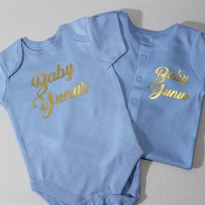 Personalised Sleepsuit And Vest Gift Set