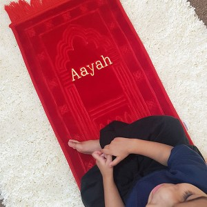 red prayer mat