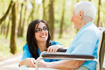 Nurse, elderly patient, PSW