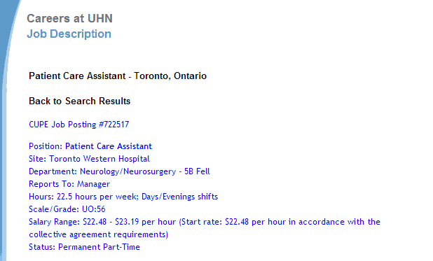 PSW Jobs at Hospitals in Toronto