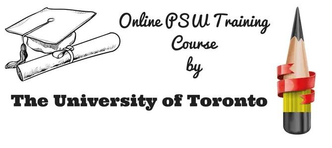 the university of toronto's psw training online course