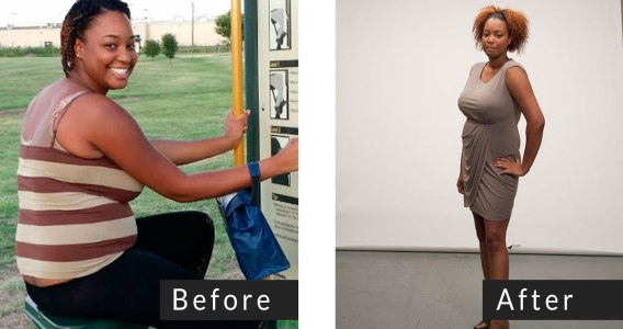 Chantal, 2014 Altered! wedding weight loss challenger before and after losing weight with Personal Trainer Food.