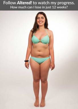 Victoria is in her bikini, ready get started on her flat tummy with Altered!