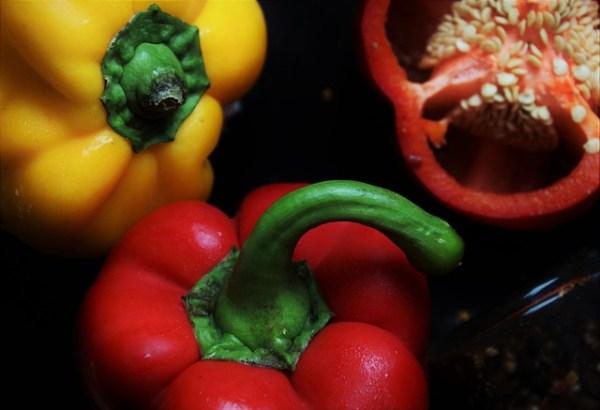 Grilgerecht met paprika en za'atar