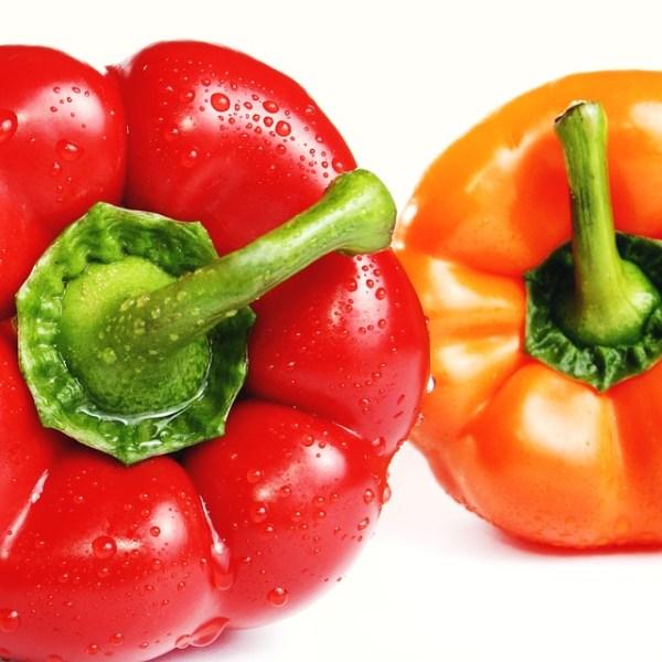 Salade met witlof en paprika