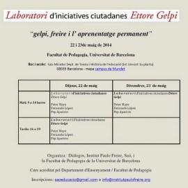 Laboratorio de iniciativas ciudadanas Ettore Gelpi 2014