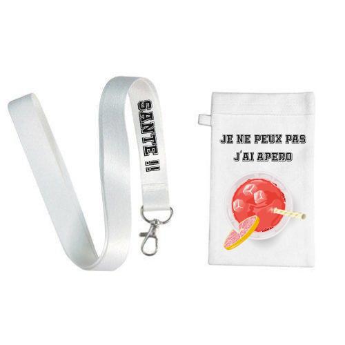 Housse de Portable avec Lanière- Pochette de Cou