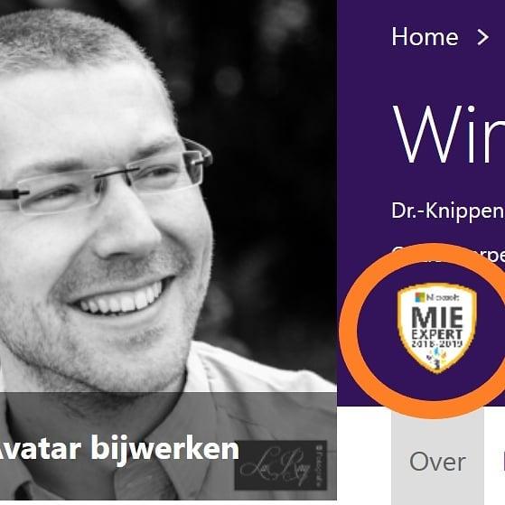 Ook dit jaar mag ik mij weer @microsoftnl Innovative Educator Expert noemen #MIEExpert #ict #onderwijs