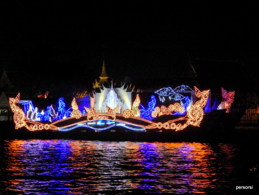 Le imbarcazioni sul fiume