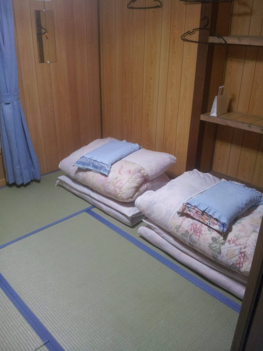 I futon ancora arrotolati