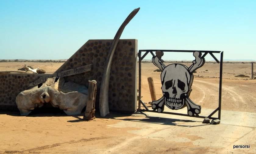 L'ingresso al parco della Skeleton Coast, Namibia