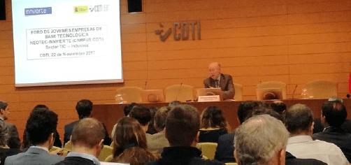 Francisco Marín, Director General del CDTI, en la presentación de los Foros NEOTEC