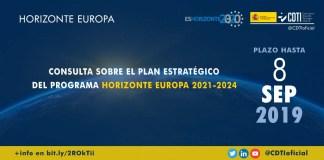 Consulta sobre el Plan Estratégico de Horizonte Europa