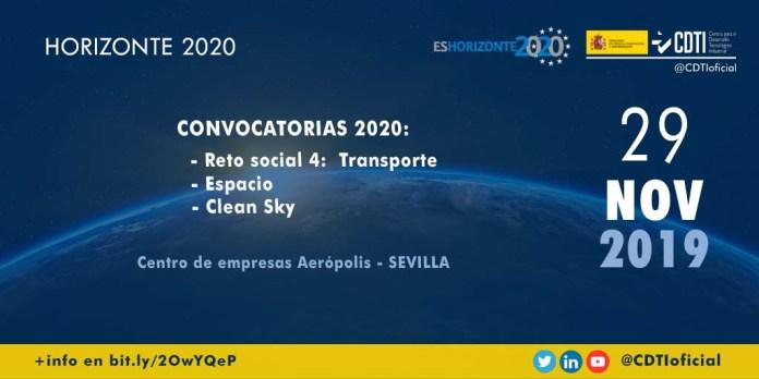 infoday h2020 transporte espacio clean sky