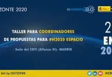 jornada h2020 espacio para coordinadores de propuestas