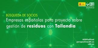 busqueda socios españoles proyecto gestion residuos tailandia