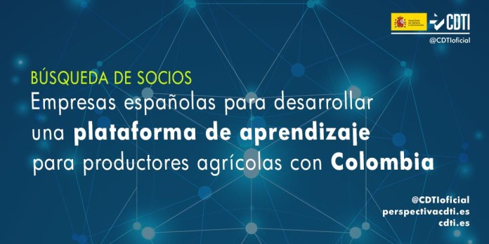 busqueda socios plataforma aprendizaje productores agrícolas