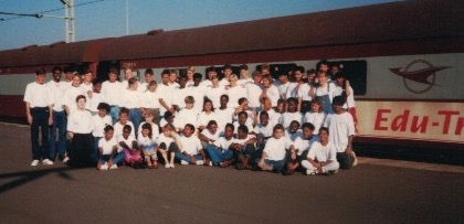 PIcture of the Edutrain participants on Durban station.