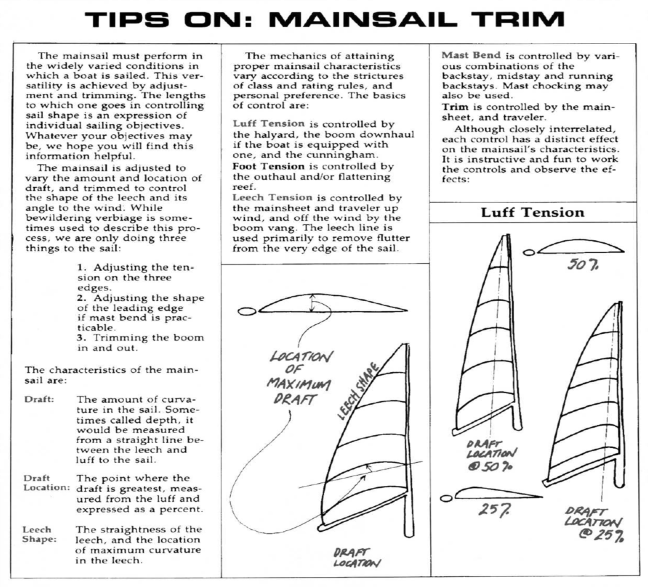 Mainsail Trim 1