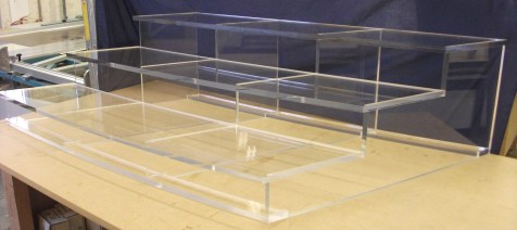 Clear Perspex Stairs for well known TV Show