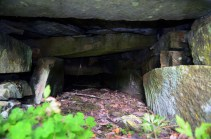 """Norway: Reconstructed Iron Age grave chamber in a burial mound in Gauldal, near Trondheim in the central part of the country. The mound is part of the great cultural path made by """"Horg Bygdatun"""". Photo: Per Storemyr."""