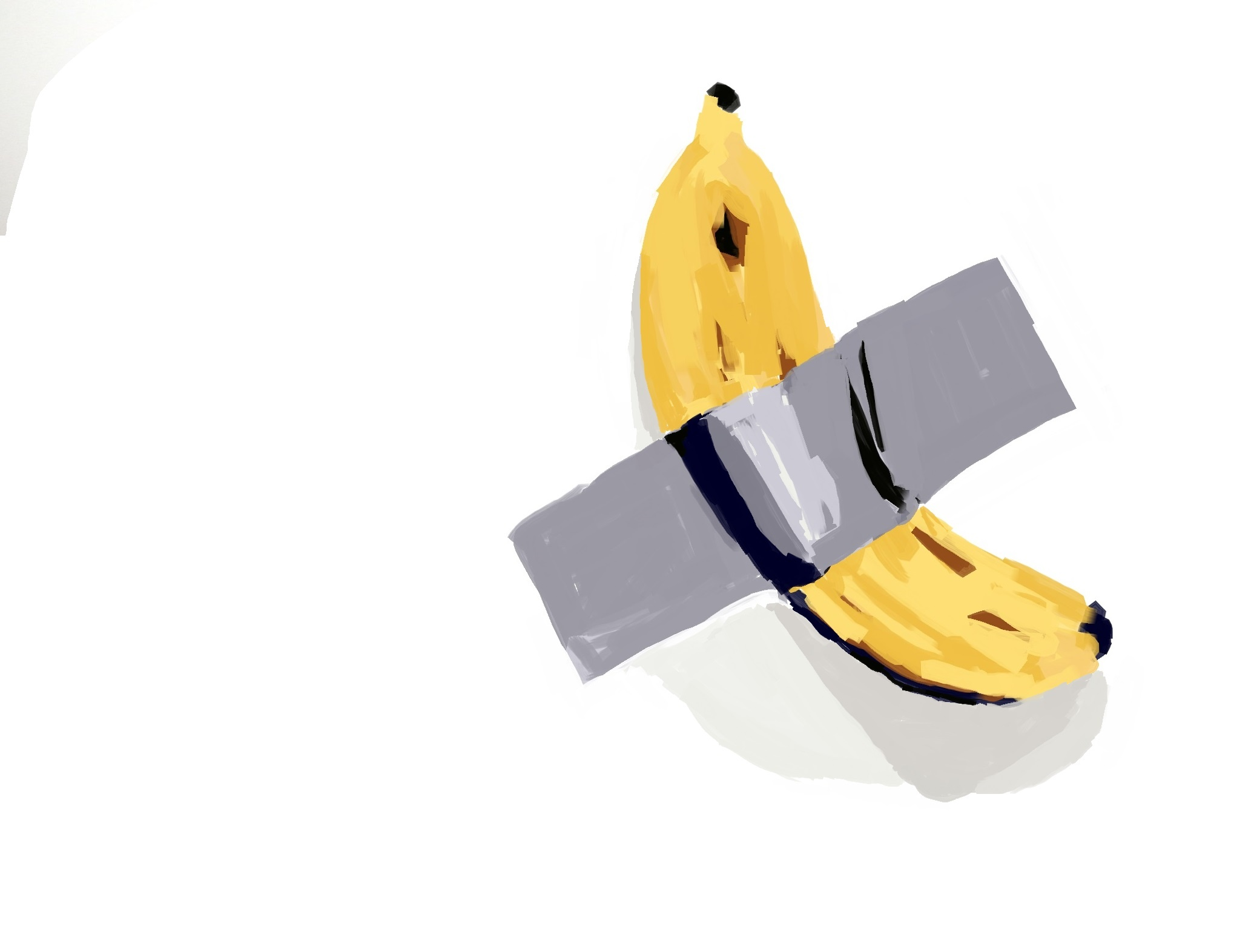 bananna duct tape on