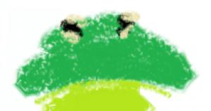 unhappy frog