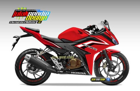 All New Honda CBR150R 2016 Red White black  pertamax7.com