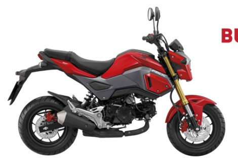 All New Honda MSX 125 GROM 2016 warna merah Burning red pertamax7.com
