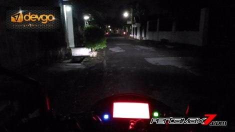 sorot lampu jauh Headlamp LED All New Suzuki Satria F150 Injeksi terang