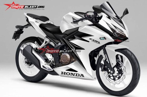Render Honda CBR250RR all white