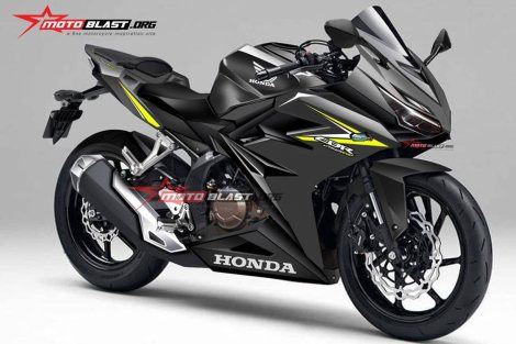 rendering balkal calon all new honda CBR250RR twin cylinder black