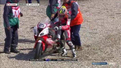 Joshua BROOKES BMW S1000R Crash WSBK Assen 2016