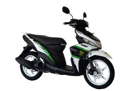 Modifikasi Yamaha Mio M3 monster putih Custom Cargloss painting Shop Pertamax7.com