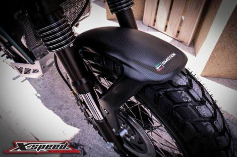 ban depan Modifikasi Yamaha Xabre Scrambler Concept Buntung Ala Minor Fighter