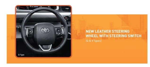 leather steering Toyota Sienta with switch Q and V