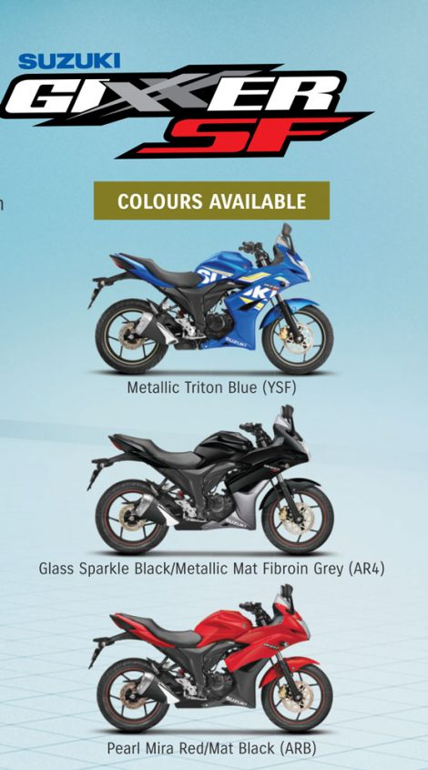 2016 New Colours Suzuki Gixxer SF India Pertamax7.com