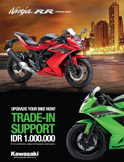 Kawasaki Ninja RR Mono Trade In Support pertamax7.com