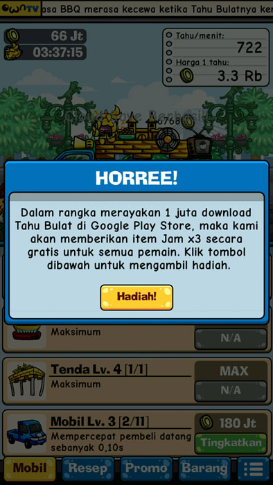 1 Juta DOwnload Game Tahu Bulat Pertamax7.com