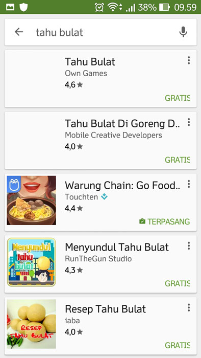 Game Tahu Bulat own game di playstore Pertamax7.com